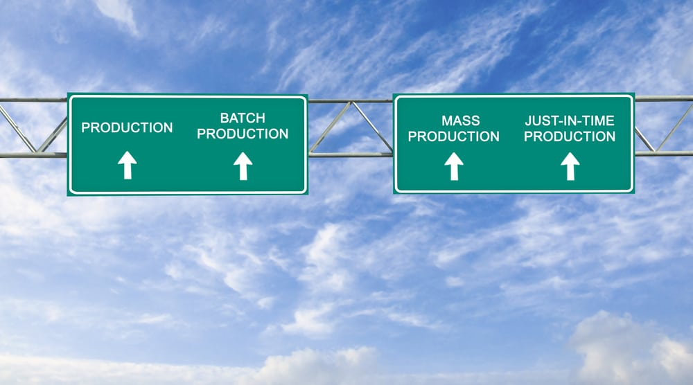 road sign to production