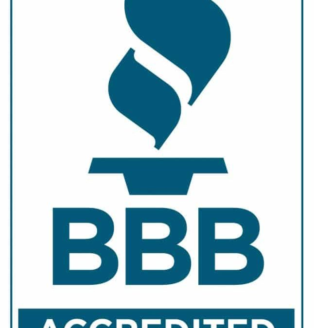 Announcement of BBB Accreditation