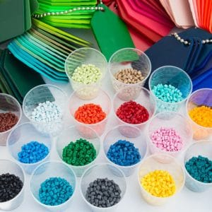 Various colors of plastic used in over-molded cable assemblies